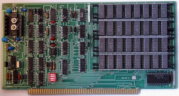 One of the two 16k dynamic RAM cards from the MITS Altair 8800a