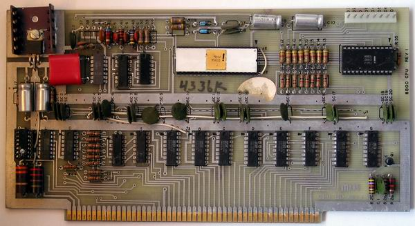 The MITS Altair 8800a rev 1 CPU card