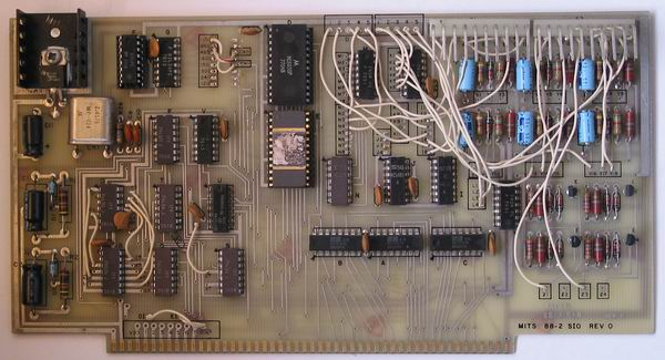 One of the two 88-SIO-2 cards in the MITS Altair 8800a