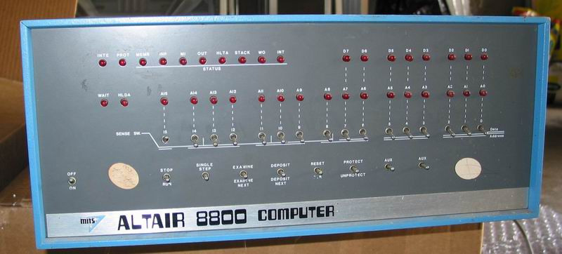 The front of the Altair 8800 as delivered