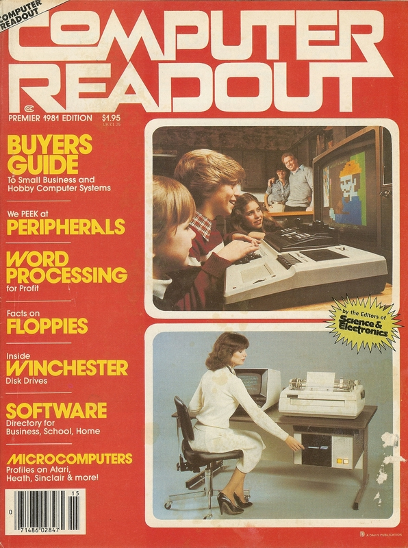 Premier Issue of Computer Readout Magazine