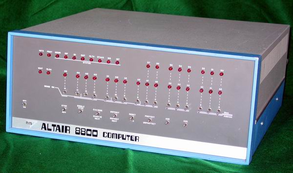 A corner view of the MITS Altair 8800