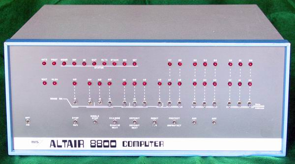 A front-on view of the MITS Altair 8800