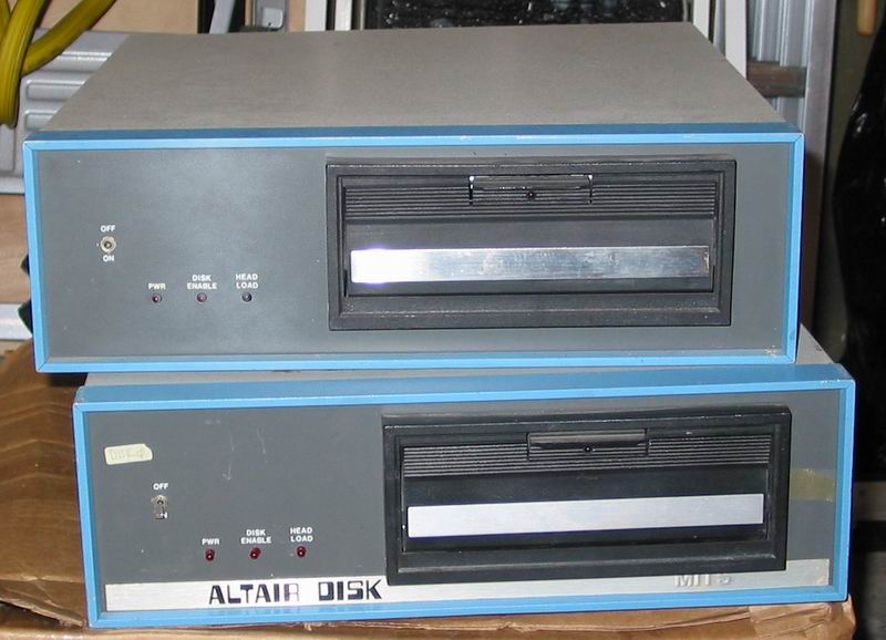 The two disk drives (88-DCDD) that came with the Altairs