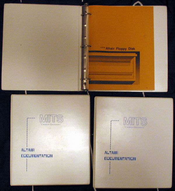 MITS Altair Documentation including assembly and operations manuals, MITS Disk Extended BASIC manuals and manuals for the 8 inch disk drives