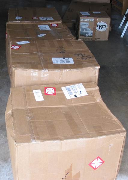 Altair boxes as delivered by UPS