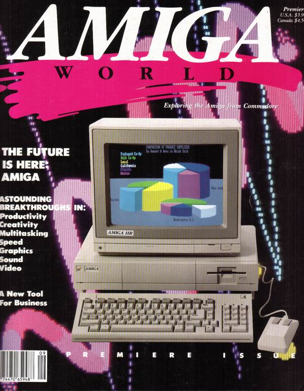 Premier issue of Amiga World magazine