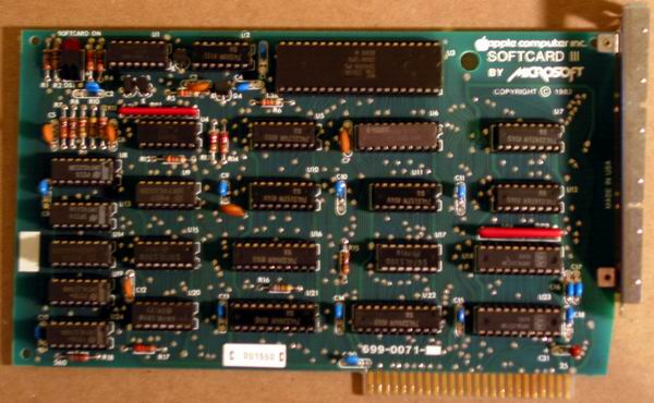 The Apple /// CP/M card (softcard)