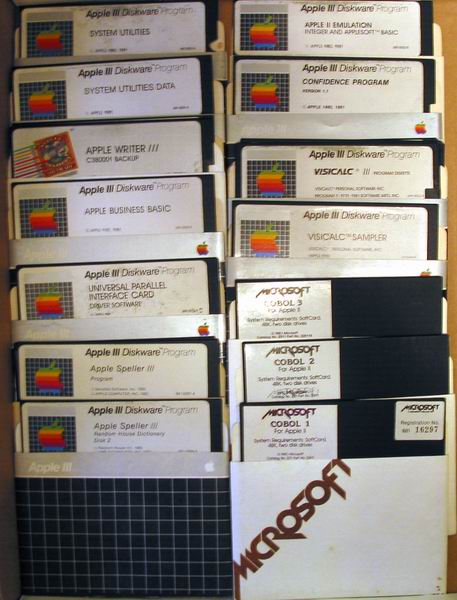 A variety of Apple /// disks