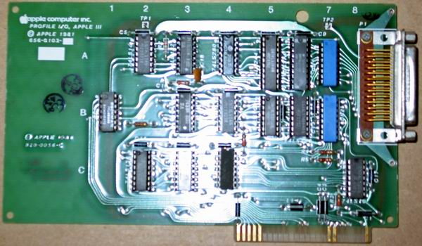 The Apple /// Profile hard drive controller card