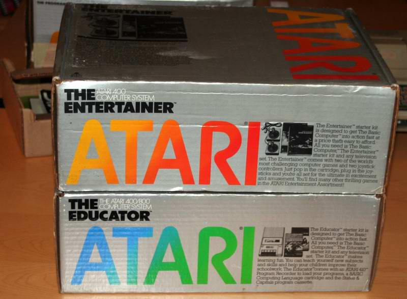 The Educator and Entertainer boxes for the Atari home computers