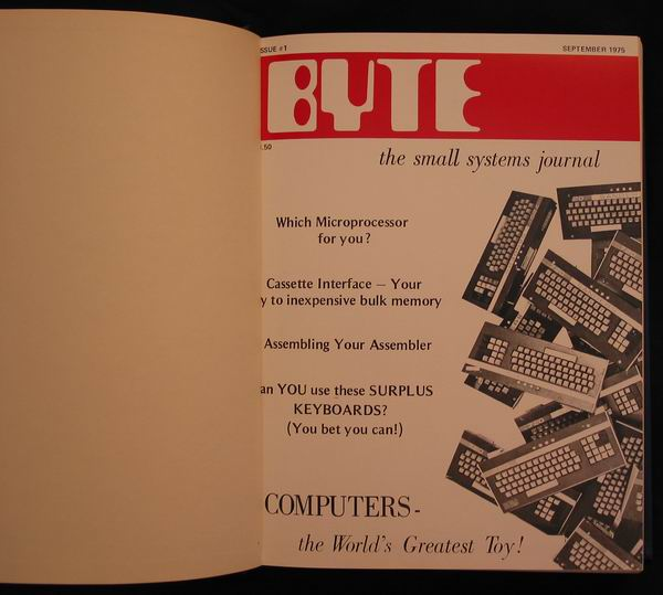 The first ever issue of Byte Magazine