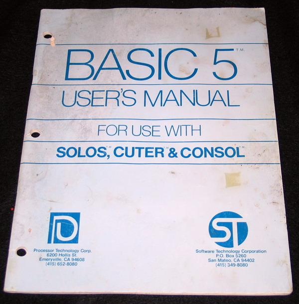 The CUTS Basic Manual