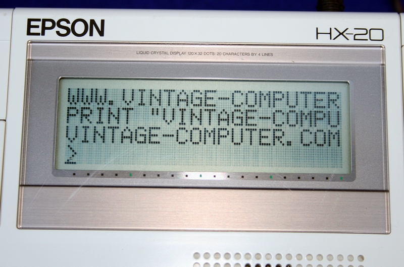 The Epson HX-20 Screen