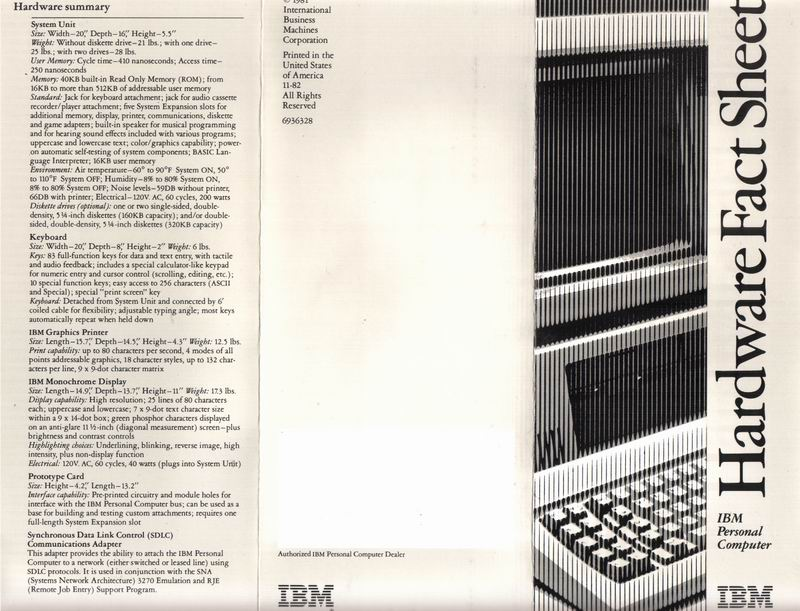 Front of the IBM Fact Sheet
