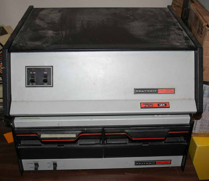 Heathkit H-11A Digital LS-11 computer with 8 inch drives