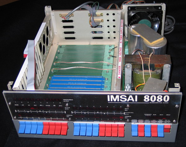 The interior of the IMSAI 8080