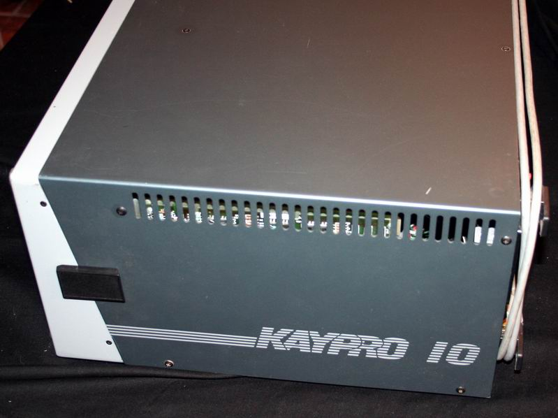 The Kaypro 10 sealed up and ready for travel.
