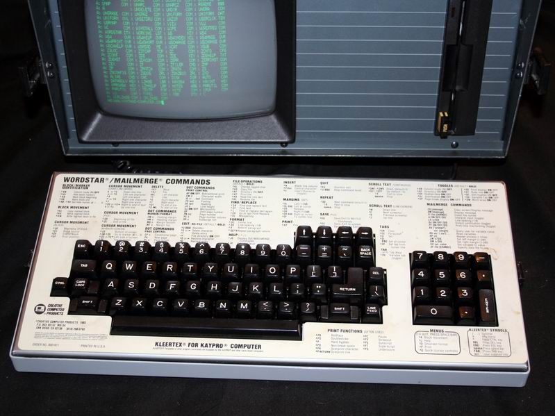 Kaypro 10 Keyboard with Wordstar overlay