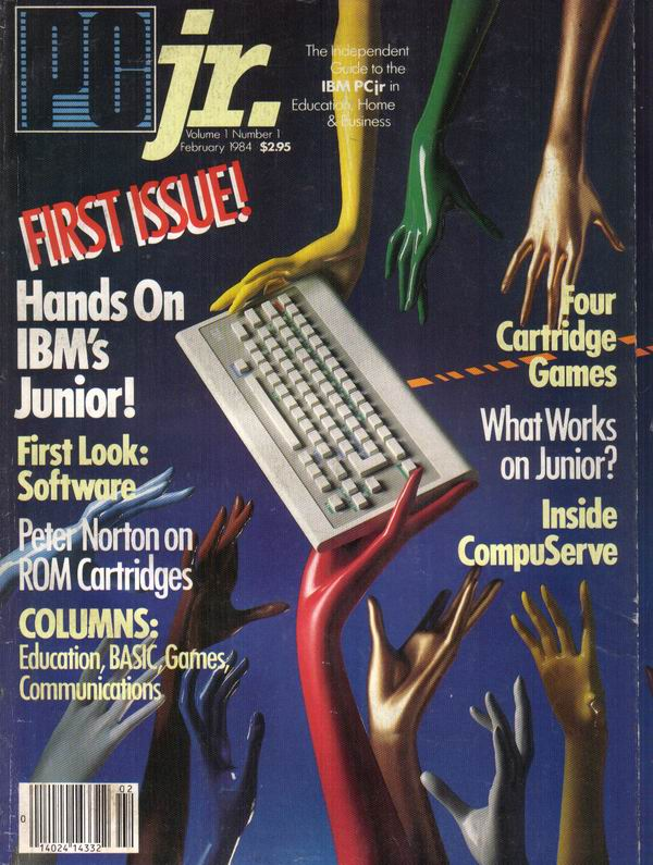 First Issue of PCjr Magazine