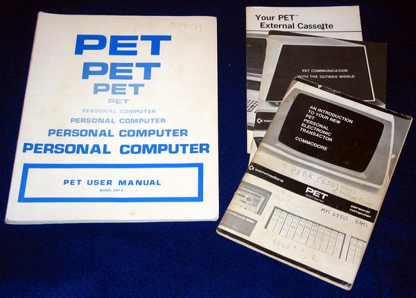 Documentation for the Pet 2001