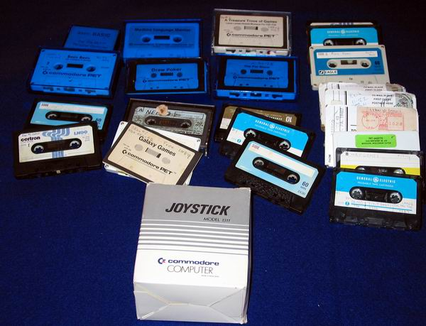 Software tapes for the Commodore Pet 2001