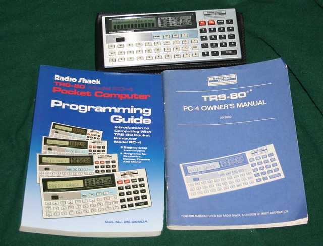 TRS-80 PC-4 with manuals, etc.