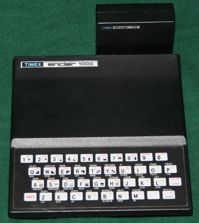 Timex/Sinclair 1000 with 16K RAM attachment