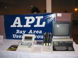 This was the APL Users Group's display.