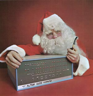 An Altair Christmas ad from the mid 1970s