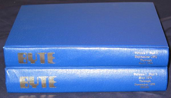 The Volume 1 books containing the first 16 issues of Byte
