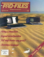 Profiles Magazine Premier Issue - For Kaypro computer users.