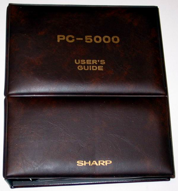 The Sharp PC 5000 manual