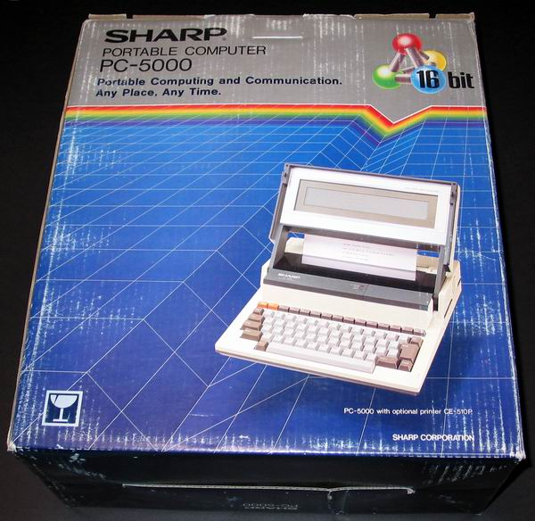 The boxed Sharp PC 5000
